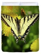 Canadian Swallowtail Butterfly Duvet Cover