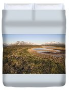 Canadian Tundra In Evening Light. Duvet Cover
