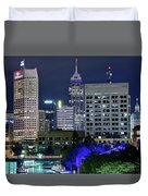 Canal At Night Duvet Cover