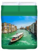 Famous Canal Grande In Venice Duvet Cover