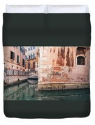 Canal In Venice, Italy Duvet Cover