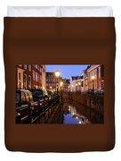 Canal Kromme Nieuwegracht In Utrecht In The Evening 15 Duvet Cover