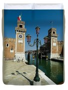 Canal Leading Into The Arsenale Duvet Cover