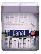 Canal Street In The Big Easy Duvet Cover