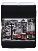 Canal Street Trolley Duvet Cover by Tammy Wetzel