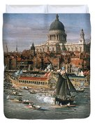 Canaletto: Thames, 18th C Duvet Cover