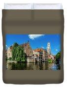 Canals Of Bruges Duvet Cover