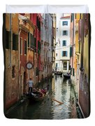 Canals Of Venice Italy Duvet Cover