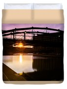 Canalside Dawn No 2 Duvet Cover