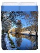 Canalside Winter Wonderland Duvet Cover