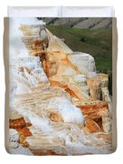 Canary Spring Mammoth Hot Springs Upper Terraces Duvet Cover