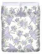 Canary Vine Leaves - Purple And Green Duvet Cover