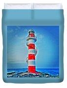 Cancun Lighthouse  Duvet Cover