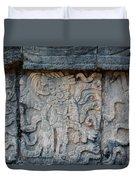Cancun Mexico - Chichen Itza - Mosaic Wall Duvet Cover