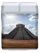Cancun Mexico - Chichen Itza - Temple Of Kukulcan-el Castillo Pyramid 1 Duvet Cover