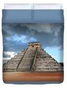 Cancun Mexico - Chichen Itza - Temple Of Kukulcan-el Castillo Pyramid 3  Duvet Cover