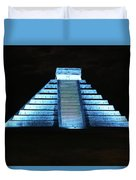 Cancun Mexico - Chichen Itza - Temple Of Kukulcan-el Castillo Pyramid Night Lights 3 Duvet Cover