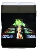 Cancun Mexico - Chichen Itza - Temple Of Kukulcan-el Castillo Pyramid Night Lights 5 Duvet Cover