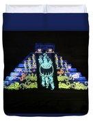 Cancun Mexico - Chichen Itza - Temple Of Kukulcan-el Castillo Pyramid Night Lights 6 Duvet Cover