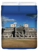 Cancun Mexico - Chichen Itza - Temple Of The Warriors Duvet Cover