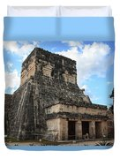 Cancun Mexico - Chichen Itza - Temples Of The Jaguar On The Great Ball Court Duvet Cover