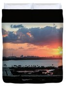 Cancun Mexico - Sunrise Over Cancun Duvet Cover