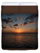 Cancun Mexico - Sunset Over Cancun Duvet Cover