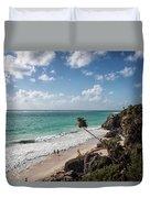 Cancun Mexico - Tulum Ruins - Caribbean Beach Duvet Cover