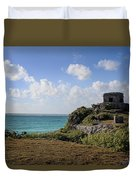 Cancun Mexico - Tulum Ruins - Temple For God Of The Wind 1 Duvet Cover