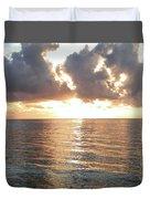 Cancun Sunrise Duvet Cover