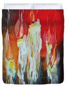 Candle Dance  Duvet Cover