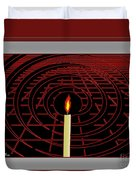 Candle Of Faith And Hope Duvet Cover