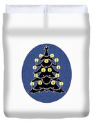Candlelit Christmas Tree Duvet Cover