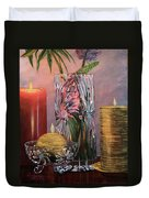Candlelit Lupins Duvet Cover