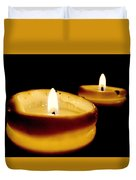Candles In The Dark Duvet Cover