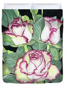 Candy Cane Roses Duvet Cover
