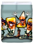 Candy Corn Gang Duvet Cover
