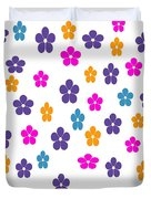 Candy Flower Bright Duvet Cover