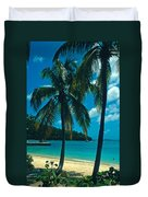 Caneel Bay Palms Duvet Cover by Kathy Yates