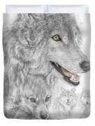 Canis Lupus V The Grey Wolf Of The Americas - The Recovery  Duvet Cover