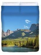 Canmore Alberta Golden Hour Duvet Cover