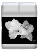 Canna Lily In Black And White Duvet Cover