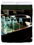 Canning Jars Duvet Cover by Susan Savad