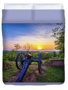 Cannon At Sunset Duvet Cover