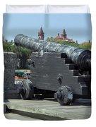 Cannon At The Castillo Duvet Cover