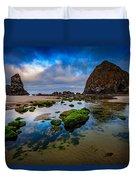 Cannon Beach Duvet Cover by Rick Berk