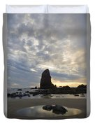 Cannon Beach Sunset 1 Duvet Cover