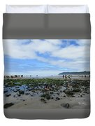 Cannon Beach Tide Pools Duvet Cover