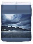 Cannon Beach Under Clouds Duvet Cover