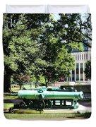 Cannon Near Tecumseh Statue Duvet Cover